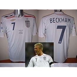 Umbro Angleterre bnwot Beckham Brésil Wembley Adulte Taille M L XL XXL pour Homme Jersey de Football de Football New la Galaxy Euros