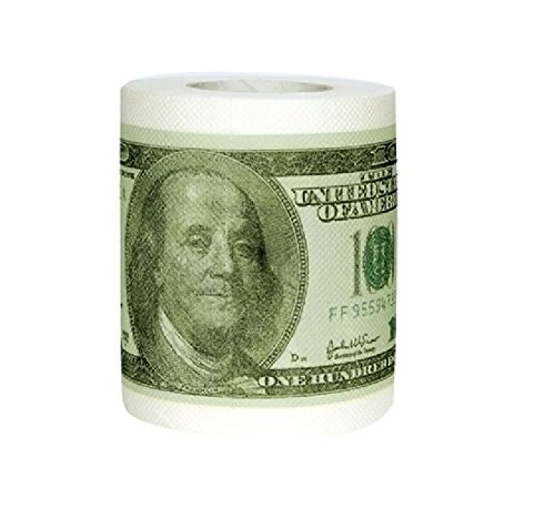 Money Toilet Paper Roll Bathroom Tissue Novelty 100 Dollar Bill