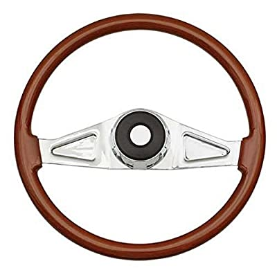 Woody's WP-SWPB9801.2 Rosewood Chrome Truck Steering Wheel (Beautiful African Hardwood): Automotive