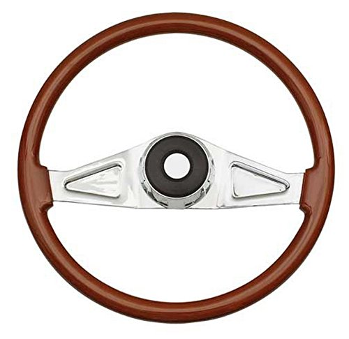 Woody's WP-SWPB9801.2 Rosewood Chrome Truck Steering Wheel (Beautiful African Hardwood) by Woody's