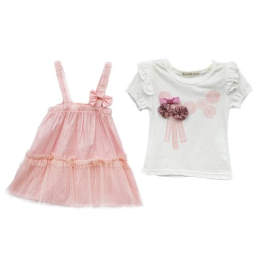 PanDaDa Baby Girl Floral Short Sleeve T-shirt Blouse Tops Pants Shorts 0-3 Y...