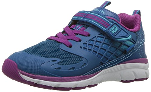 Stride Rite Girls' Made 2 Play Cannan Running Shoe, Blue, 6.5 M US Toddler (Blue Faux Leather 6.5)