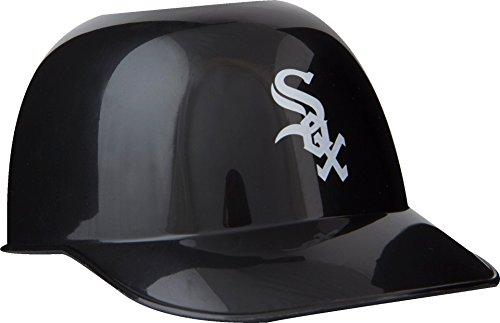 Official MLB Mini Baseball Helmet 8oz Ice Cream/Snack Bowls, 1 Count, Chicago White - Mini Helmet Sox Baseball