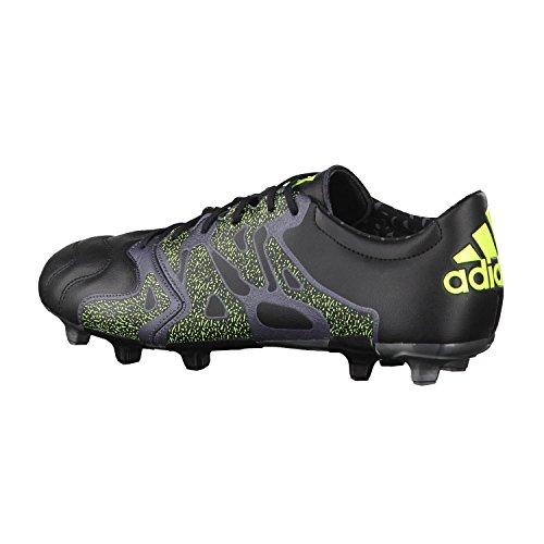 Adidas Noir Gris Leather Homme Football De Pour Ag X 2 Fg Jaune Chaussures 15 PrUZP