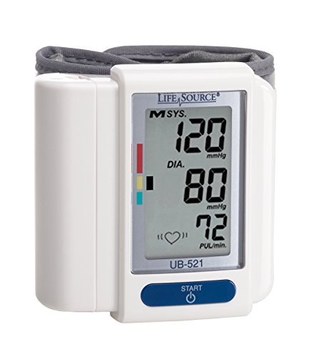 LifeSource Digital Wrist Blood Pressure Monitor (UB-521) by LifeSource