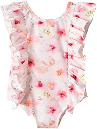 水着 キッズ 女の子 Mimoonkaka 可愛い 子供 ワンピース スイムウェア 花柄 ベビー 水着 水遊び スイミング 温泉 海水浴 プール 公園 0~6歳