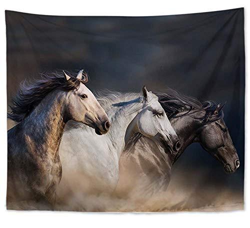 Running Horses Wall Art Hanging Tapestry Star Wall Decor fine Art - Hanging Horse