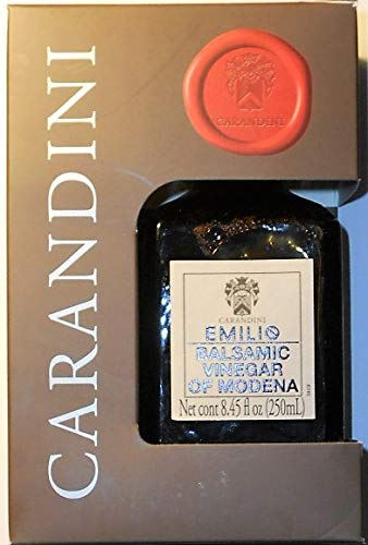 Carandini Emilio Balsamic Vinegar of Modena 8.45 fl oz (250ml) 1 Aceto Balsamico Di Modena IGP (One) 8.45 fl oz Bottle (250ml) Gluten Free, GMO Free, Vegetarian