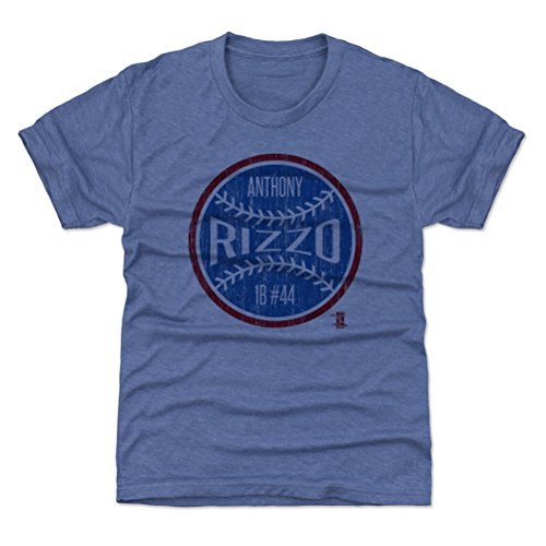 500 LEVEL Chicago Baseball Youth Shirt - Kids Small (6-7Y) Tri Royal - Anthony Rizzo Ball - Cubs Vintage T-shirt