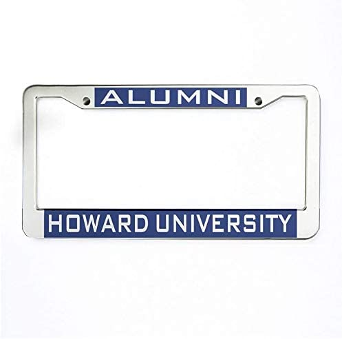 Chawuux Howard University Alumni License Plate Frame Thick Metal Car Tag Frame and Screws for US Standard