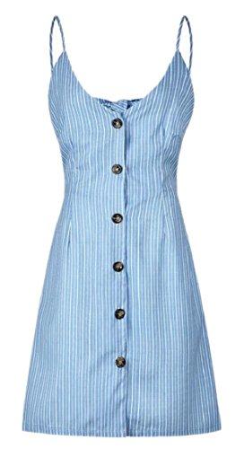 Neck V Dress Midi Button Down Spaghetti Jaycargogo Swing Womens 5 Strap qUSIg4