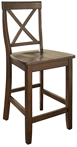 Crosley Furniture X-Back 24-inch Bar Stool - Vintage Mahogany (Set of 2) - Mahogany Bar Stools