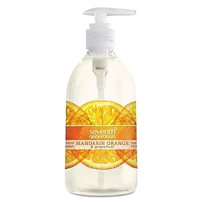 Seventh Generation Hand Wash, Mandarin Orange and Grapefruit , 12 Fl Oz
