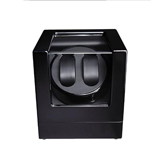 Automatic Watch Winder Dual Automatic Watch Winder Luxury Watch Display Case Rotator (Color : Black)