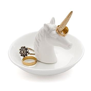 Balvi - Unicorn XL Porta Anelli in Ceramica. Vassoio per Anelli e Gioielli. Realizzato in Ceramica. Forma di Unicorno. Balvi Gifts S.L.