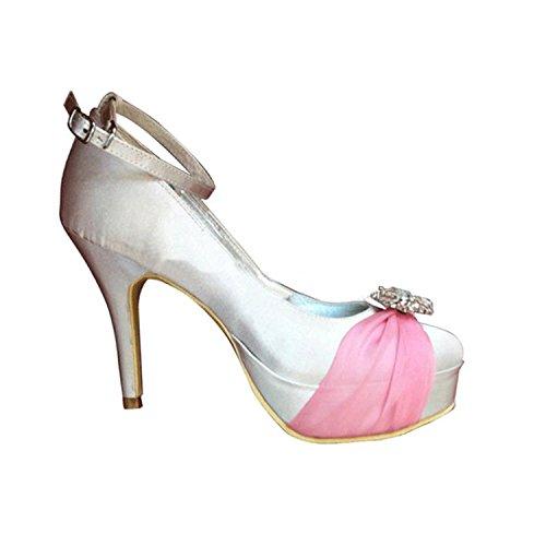 Kevin Fashion - Zapatos de boda fashion mujer Rosa