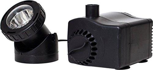 LOW WATER AUTO SHUT-OFF FOUNTAIN PUMP W/ LED LIGHT - 300-420 GAL/HR by DavesPestDefense