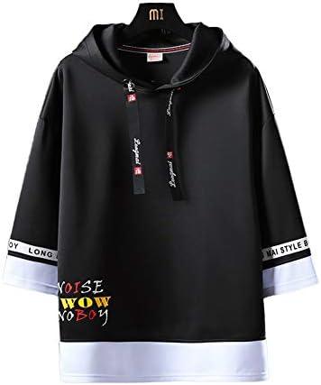 パーカー トップス メンズ 半袖パーカー 半袖Tシャツ 丸首 カットソー おしゃれ カジュアル 快適 スポーツ 涼しい