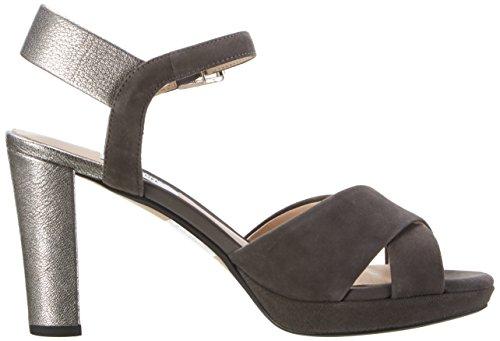 Clarks Kendra Petal, Zapatos de Tacón para Mujer Gris (Dark Grey Sde)