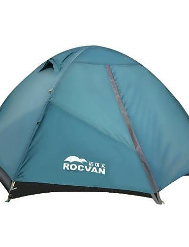 ZQ ROCVAN 3 Season A092B 2 Person Single Layer Tear Resistant Aluminum Pole Camping Tent