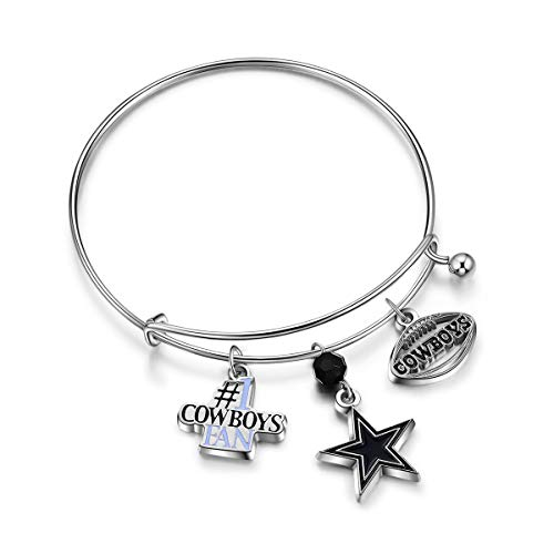 NFL Dallas Cowboys Three Charm Logo Bracelet -