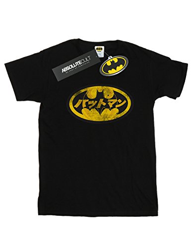 Dc Comics Noir Batman Homme giapponese gialla Maglietta Logo f4qZwpC4