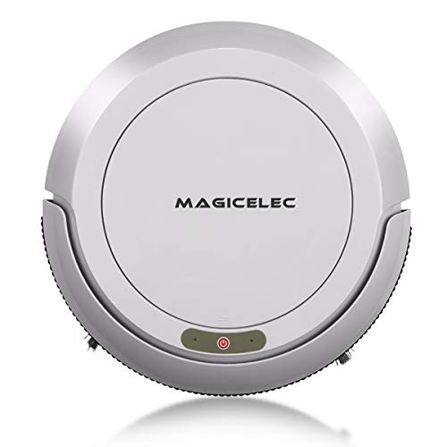 Robotic Vacuum Cleaner, 1300Pa Strong Suction,Drop-Sensing Technology, Cleans Hard Floors Thin Carpet (Grey)