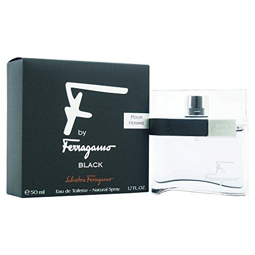Salvatore Ferragamo F Black Eau De Toilette Spray for Men, 1.7 Ounce (Ferragamo Pour Homme Edt)