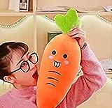 "Dongcrystal 21.6"" Plush Carrot Pillows Stuffed Creative Vegetables Toys Funny Sofa Cushion"