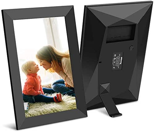 Ultimaxx 10.1 Inch 16GB WiFi Digital Photo Frame with HD IPS Display Touch Screen – Share Moments Instantly via Frameo App from Anywhere