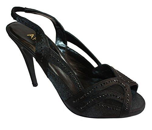 APART 394692 Sandalette mit Ziersteine in schwarz Größe 39