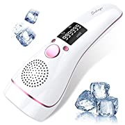 #LightningDeal Ice Hair Removal at-Home for Women Permanent IPL Hair Removal Upgrade to 999,999 Flashes Professional Hair Remover Device Care with Icing Sense Painless Treatment Facial Body and Whole Body (White)