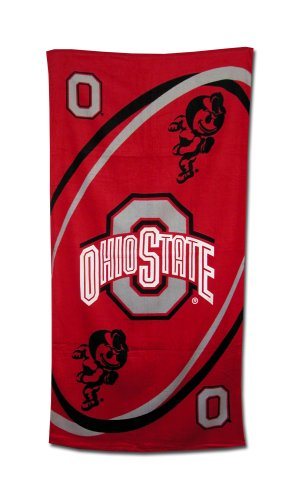 Ohio State Buckeyes Fiber Reactive Pool/Beach/Bath Towel (Team Color)