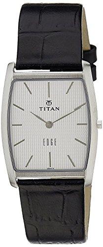 Titan Men's Edge Mineral Quartz Glass Slim Analog Wrist Watch- Ultra Slim with Metal, Leather Strap ()