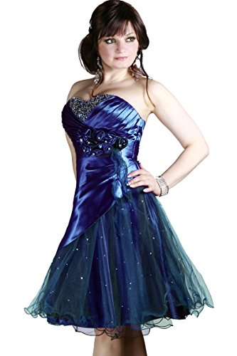 und Farbe Abendkleid Damen Gr Cocktail Royalblau e Christine Juju Bwxq6B