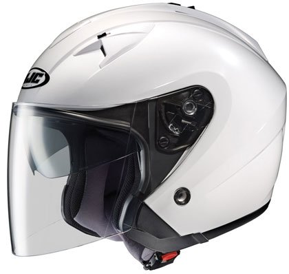 HJC IS 33 Open Face Motorcycle Helmet Solid Colors White XL