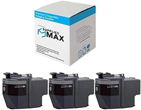 3//PK-3000 Page Yield SuppliesMAX Compatible Replacement for Brother MFC-J5330//J5335//J5730//J76530//J6830DW Black Super High Yield Inkjet LC-3019XXLBK/_3PK