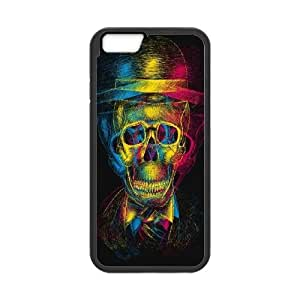 iPhone 6 Plus 5.5 Inch Cell Phone Case Black Skull Phone Case Cover Clear Generic XPDSUNTR12392