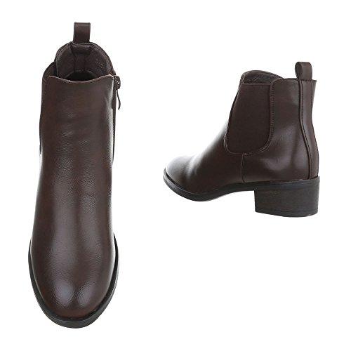 et Bottes bottines Bleu Design Bottes Bloc Chelsea Chaussures foncé femme Ital BgxTET
