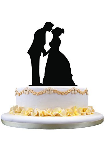 Groom Stand (Wedding cake topper- silhouette of kissing couple, bride and groom topper stand for wedding decoration)