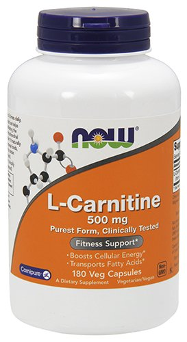 Now Foods L-Carnitine 500 mg 180 Capsules (Best L Carnitine Reviews)
