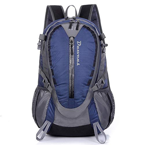 ZCL Day Hiking Backpack, 25L International Travel Daypack Carry-On, Camping Climbing Trekking, Lightweight, Water-Resistant, Spacious, Comfortable, Vibrant, Navy Blue