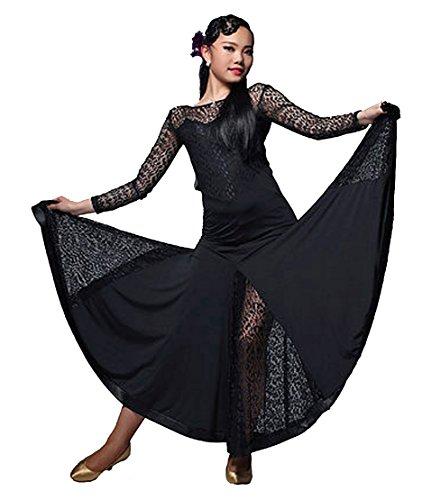 [M9102 StarDance Women's Ballroom Smooth Showcase Practise Dance Costume Dress (Large (US size 6-8),] (Dancesport Standard Costume)