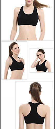 Ailin home- De alta resistencia sin golpes de acero anillo de funcionamiento yoga chaleco-estilo ropa interior Seamless ajuste sueño movimiento sujetador Negro