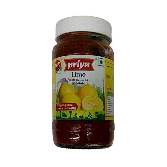 Priya Pickle - Lime with Garlic, 50g Pouch