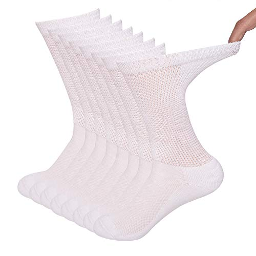 Sock Amazing Diabetic Socks White Crew Socks Bamboo Socks Casual Socks,10-13