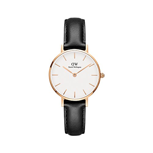 Daniel Wellington Classic Petite Sheffield in White dial/ Black band - Eggshell Dial