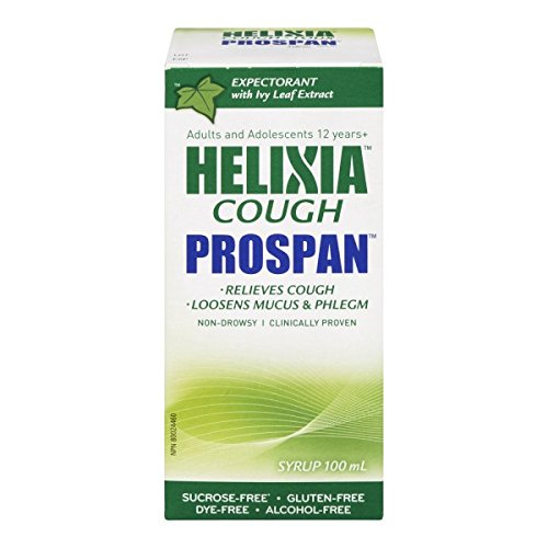 Prospan 100mL By Helixia - Ivy Leaf Extract - Relieves Cough, Loosens Mucus & Phlegm