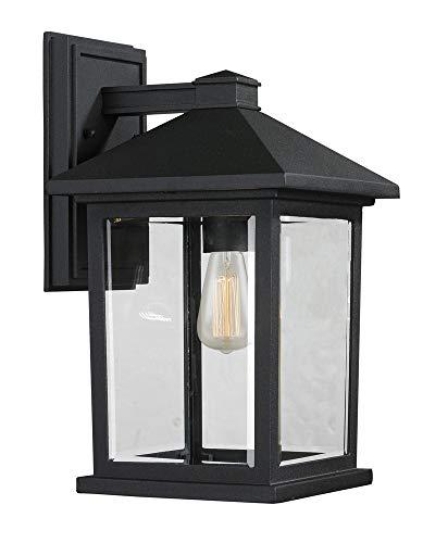 (Z-Lite 531M-BK 1 Outdoor Wall Light, Black)