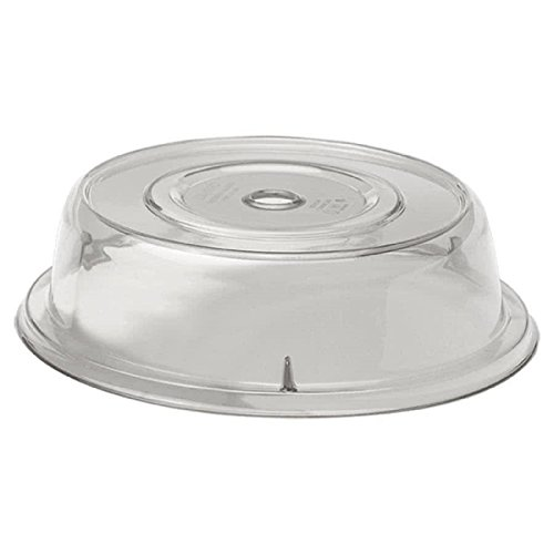 MyEasyShopping 10 13/16 Serveware Round Camcover Plate Serving Covers Polycarbonate Construction - CLEAR- Pkg Qty ()
